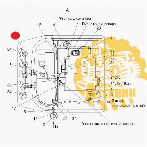Жгут КЗК-12-0700650 кабины дополнительный