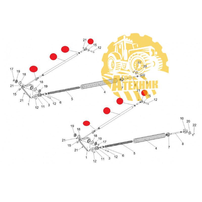 Тяга КЗК-12-1805040 механизма продольного копирования накл. кам. КЗС-1218