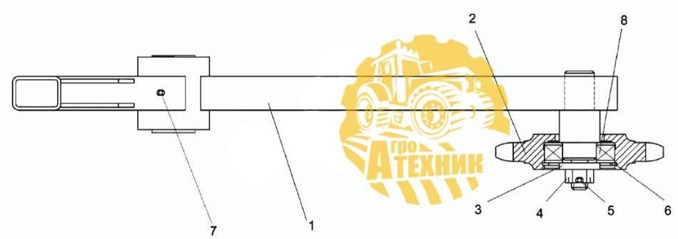 Рычаг КЗК-10-0100680А КЗС-1218