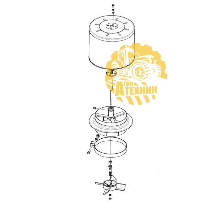 Воздухозаборник КЗК-12-3-0126420  вращающийся  КЗС-1218/10К