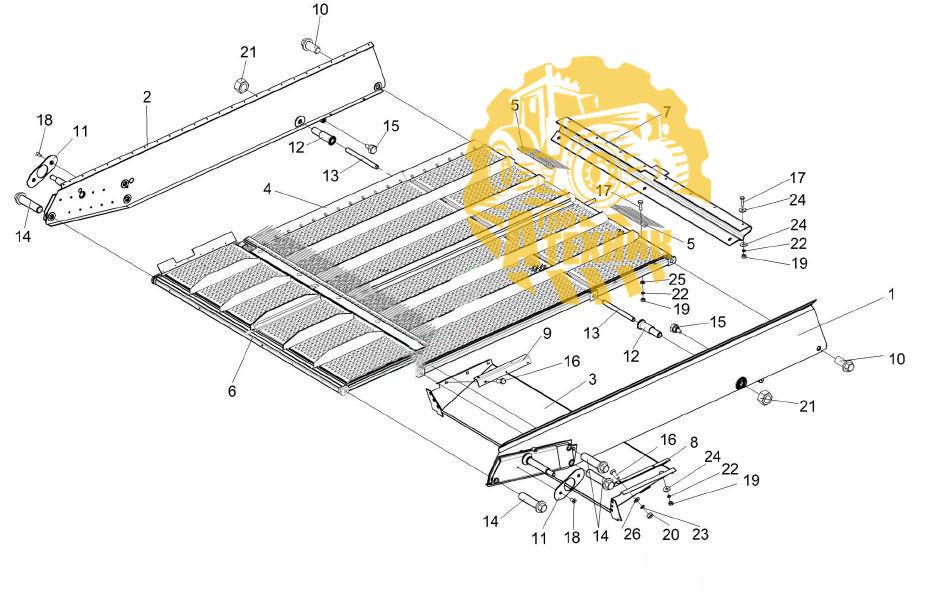 Стан решетный КЗК-10-0260000 верхний КЗС-1218