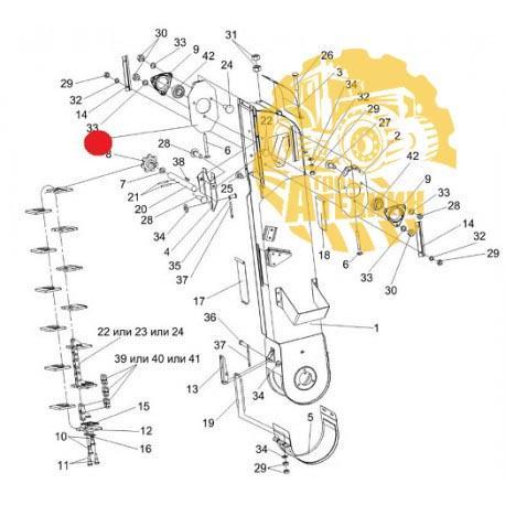Пластина КЗР 0208070Б эелеватора колосового КЗС-1218/10К