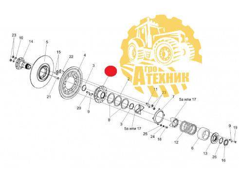 Ступица КЗК 0123040А вариатора барабана КЗС-1218/812/10К