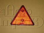 Отражатель треугольный красный